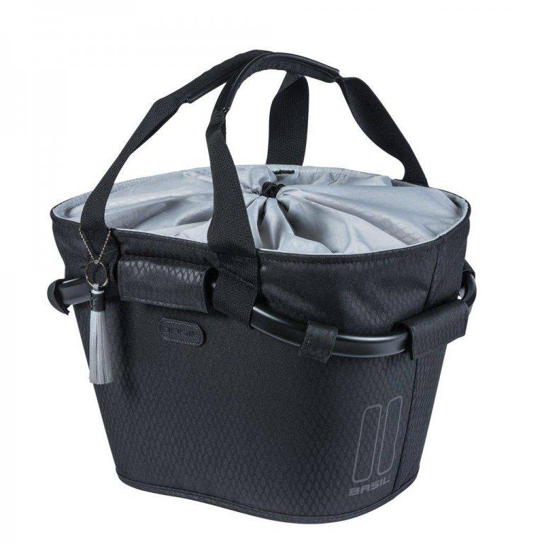 brašna BASIL Carry All front na řidítka Midnight černá