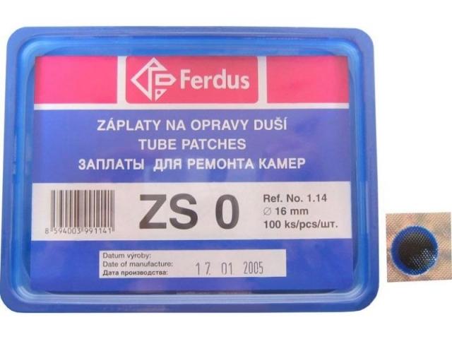 záplaty Ferdus ZS 0 16mm 100ks/1.43/ks