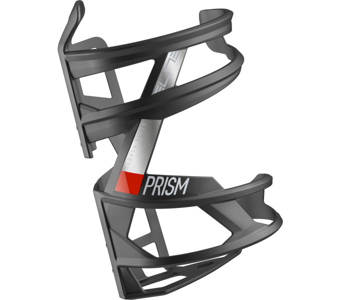 košík ELITE Prism Right Carbon, červený graphic