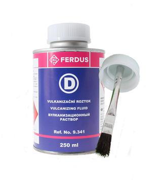Vulkanizační roztok FERDUS D 250 ml + menší štětec