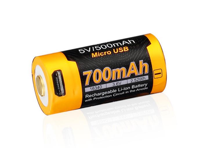 baterie 16340 Fenix USB (Li-Ion) RCR123A 700mAh High Current