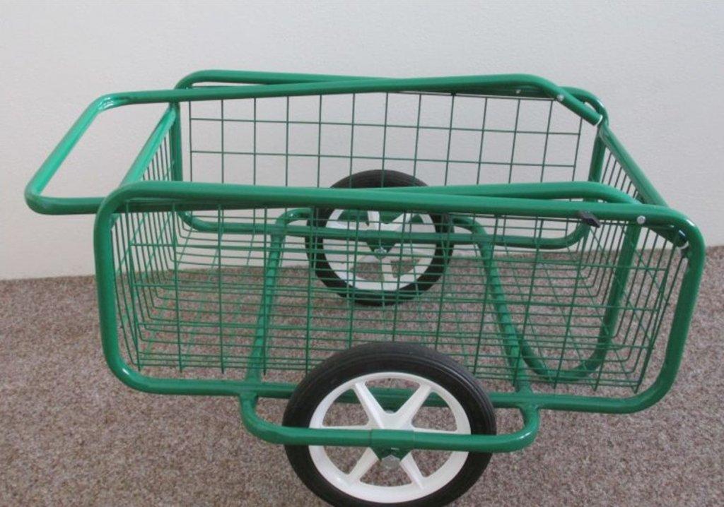 vozík POPULÁR,  gumová obruč, sklopná rukojeť