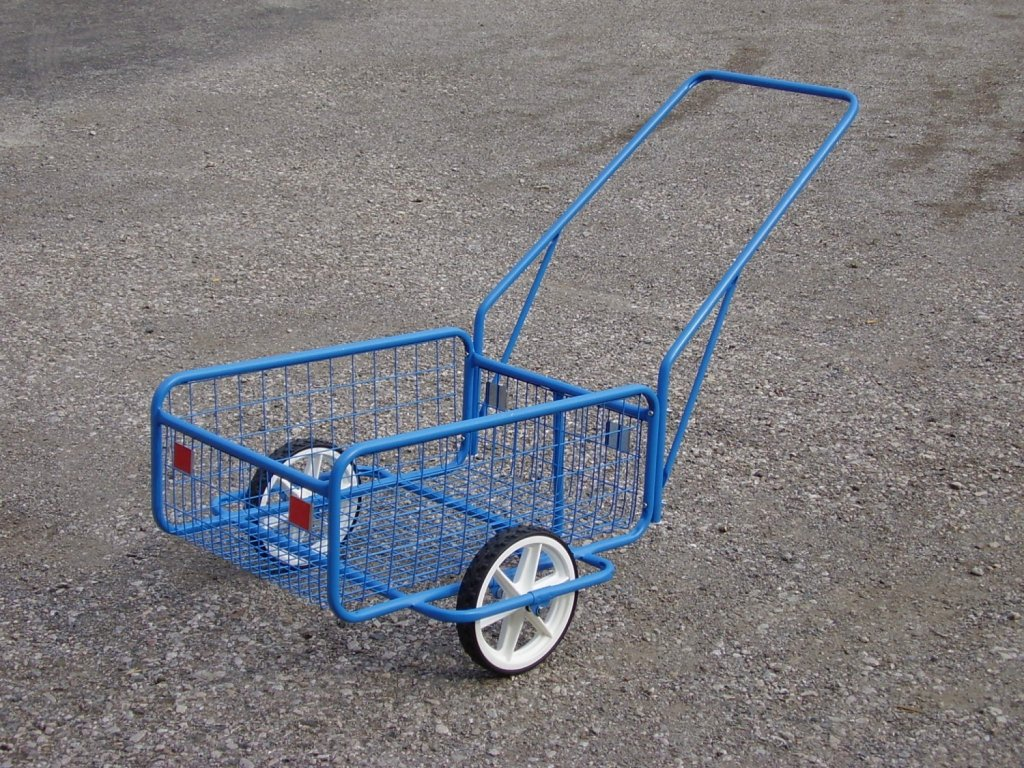 vozík POPULÁR III, plochá obruč, sklopná rukojeť