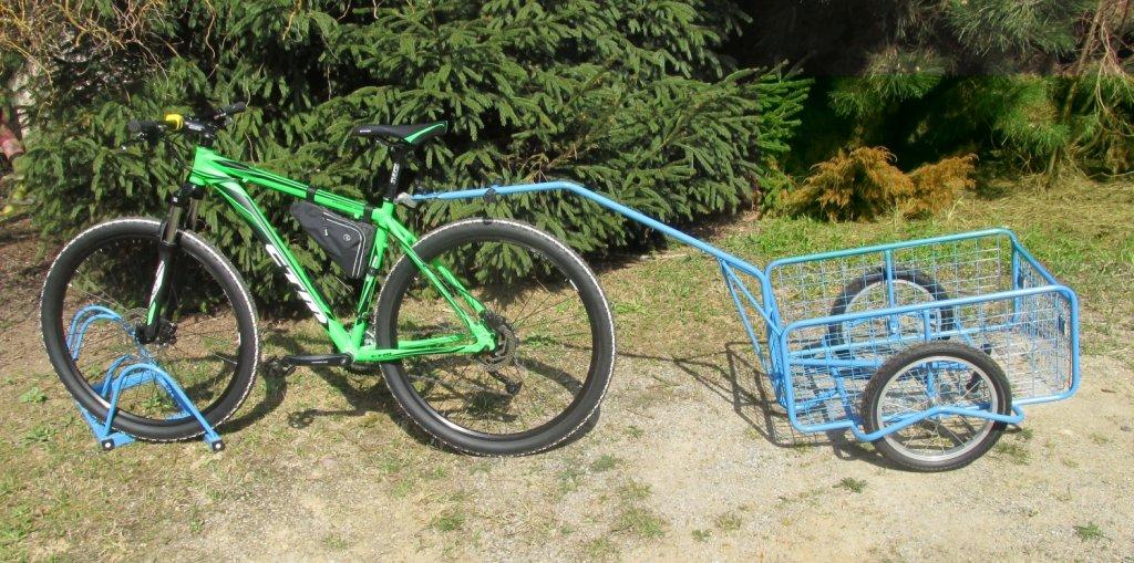 """vozík FORMAN, kola 16"""" s připojením za kolo"""