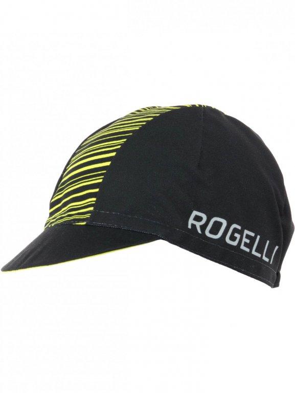 čepice Rogelli RITMO černo/fluoritová
