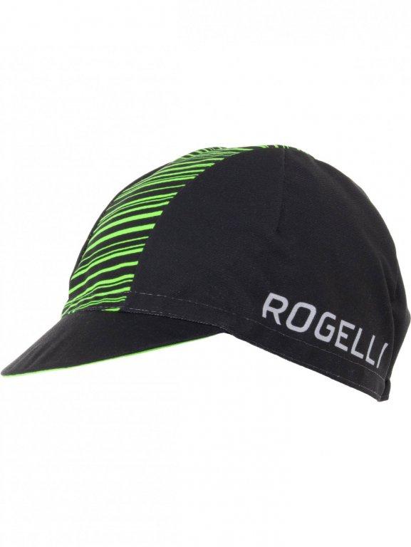 čepice Rogelli RITMO černo/zelená