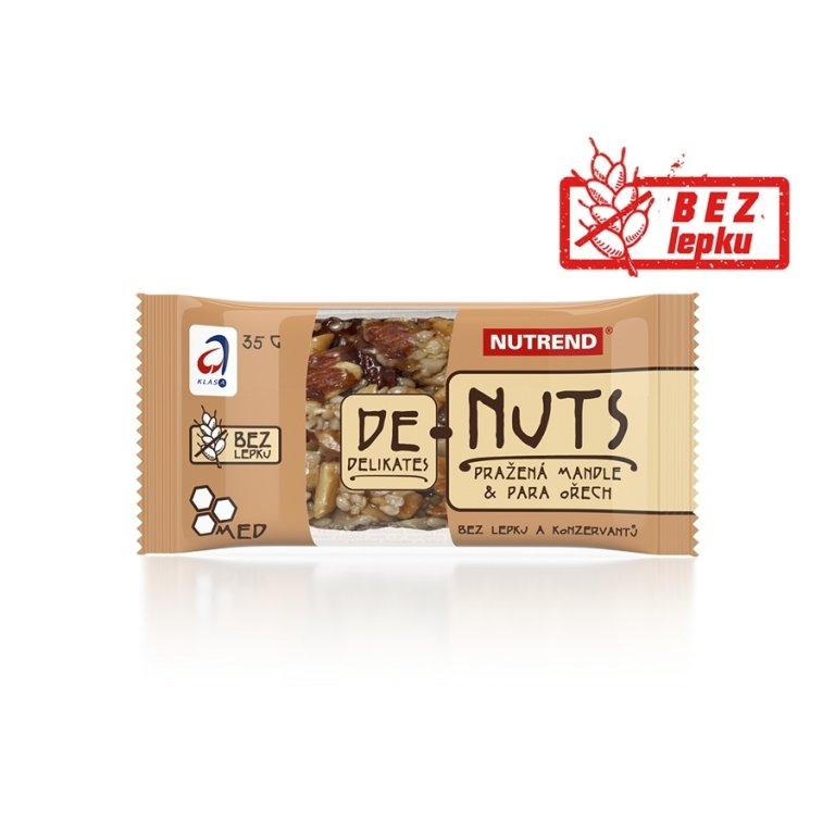tyčinka Nutrend DeNuts mandle+para ořech 35g exp.8/19