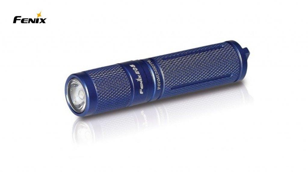 svítilna Fenix E05 XP-E2 modrá