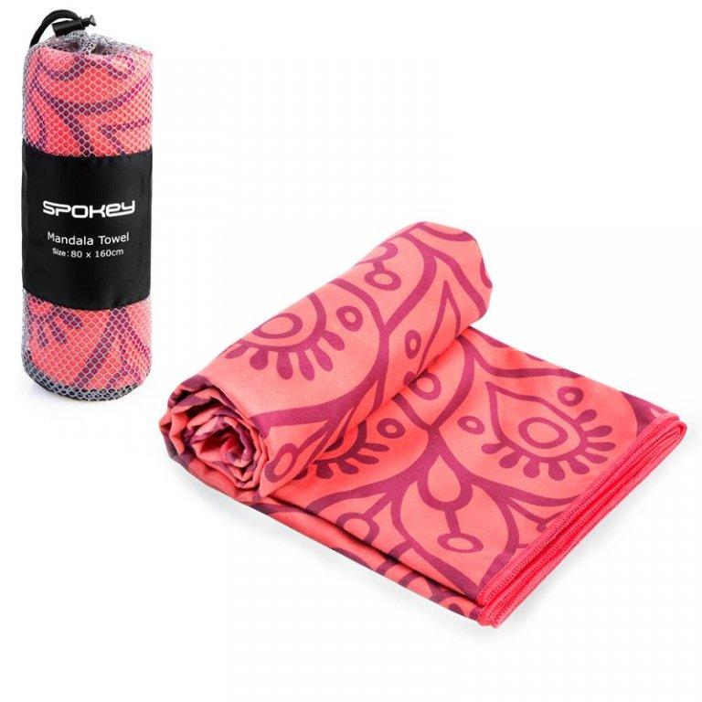 ručník rychleschnoucí Spokey MANDALA lososový 80x160 cm