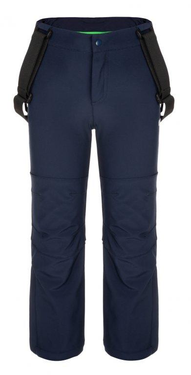 kalhoty dlouhé dětské LOAP LONNY softshelové modré, 112/116