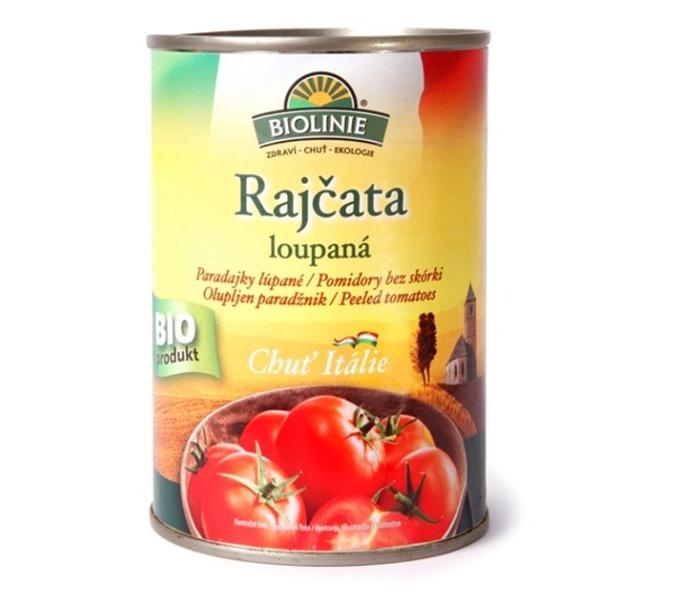 rajčata loupaná sterilovaná BIOLINIE 400g