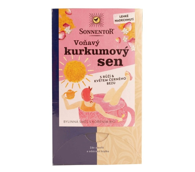 """čaj """"Voňavý kurkumový sen"""" Sonnentor 18x2g"""