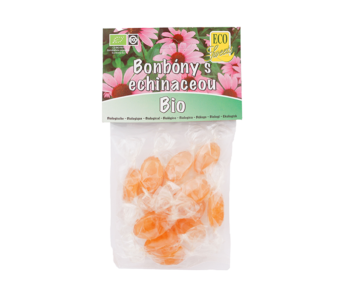 bonbony s echinaceou - bez cukru BIO 75g