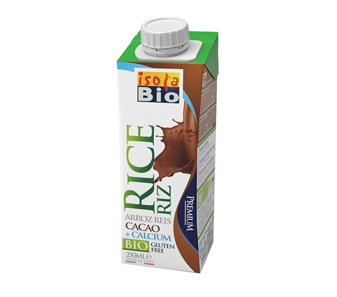 nápoj rýžový s vápníkem a kakaem ISOLA BIO 250 ml