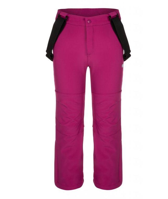 kalhoty dlouhé dětské LOAP LONNY softshelové růžové, 112/116