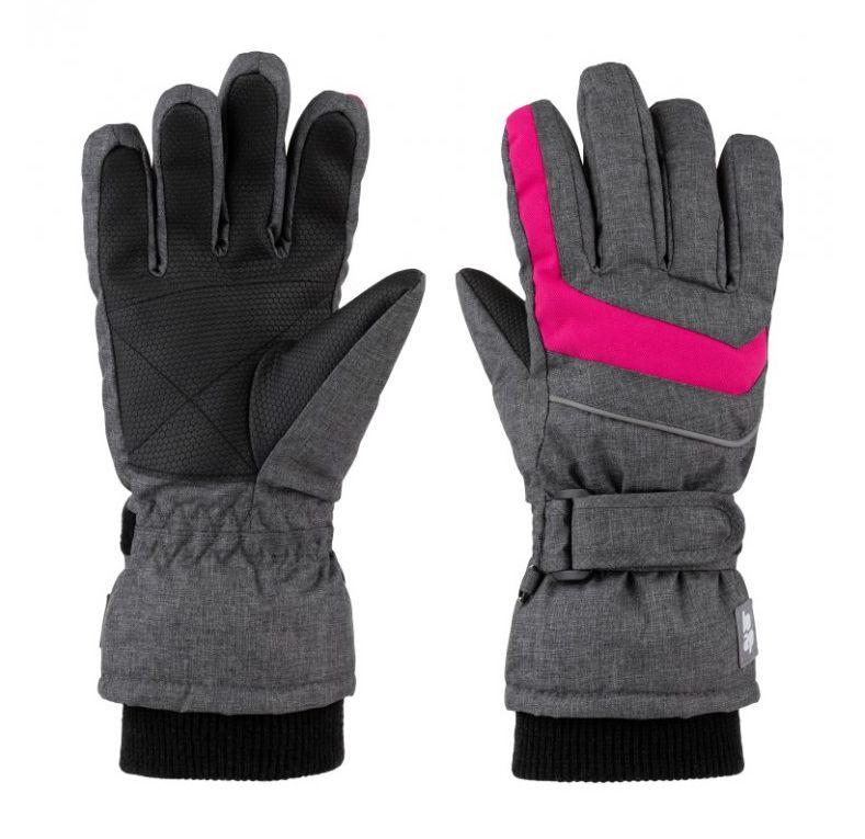 rukavice dětské LOAP RUFUS zimní šedo/růžové, 10