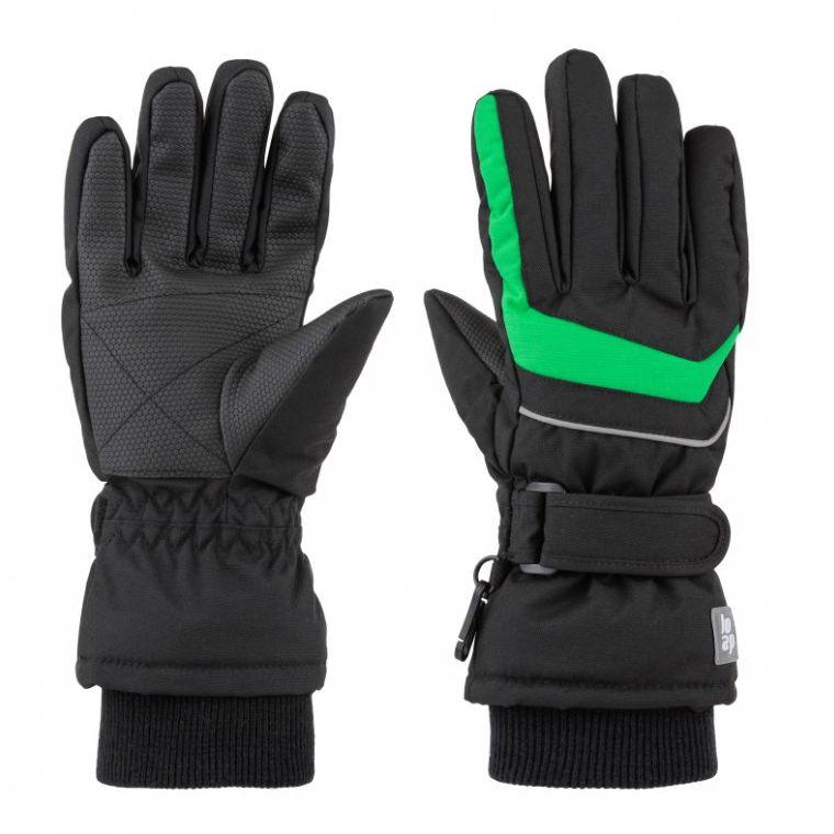rukavice dětské LOAP RUFUS zimní šedo/zelené, 10