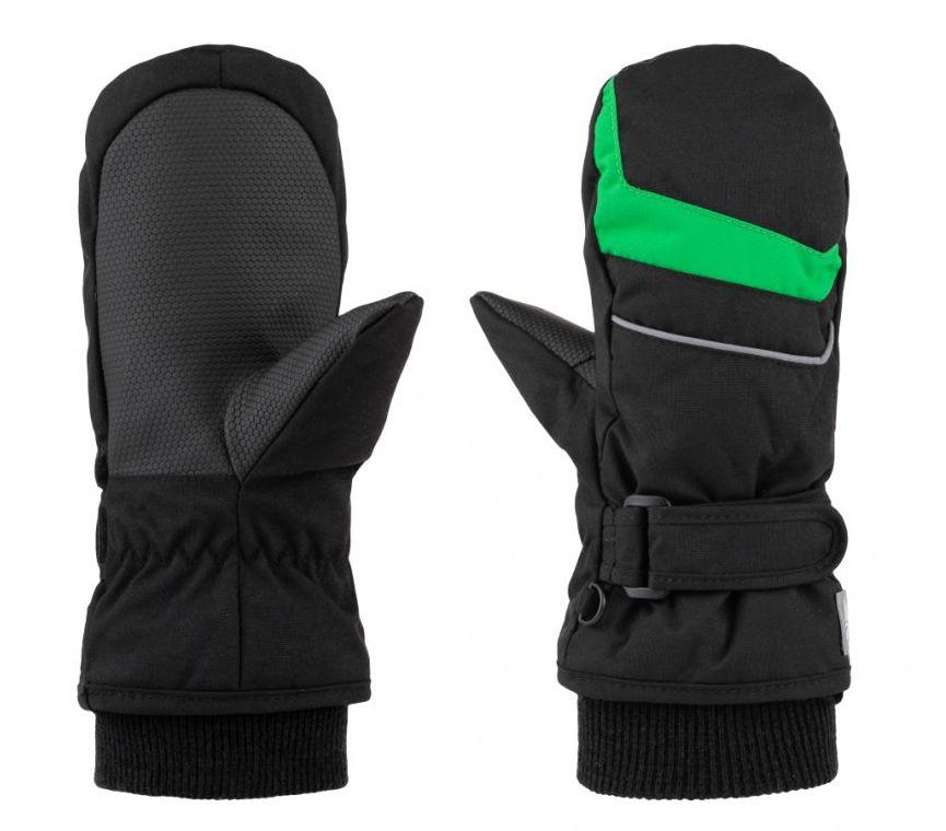 rukavice dětské LOAP RUFFI zimní černo/zelené, 10