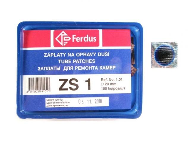 záplaty Ferdus ZS 1 20mm 100ks/1.90/ks