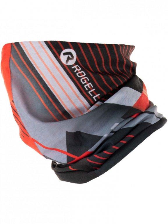 šátek roura Rogelli SCARF červeno/šedý