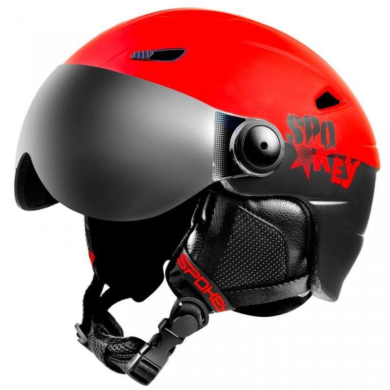 přilba lyžařská SPOKEY JASPER černo/červená, L/XL