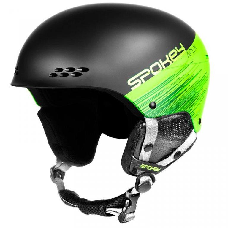 přilba lyžařská SPOKEY APEX černo/zelená, M