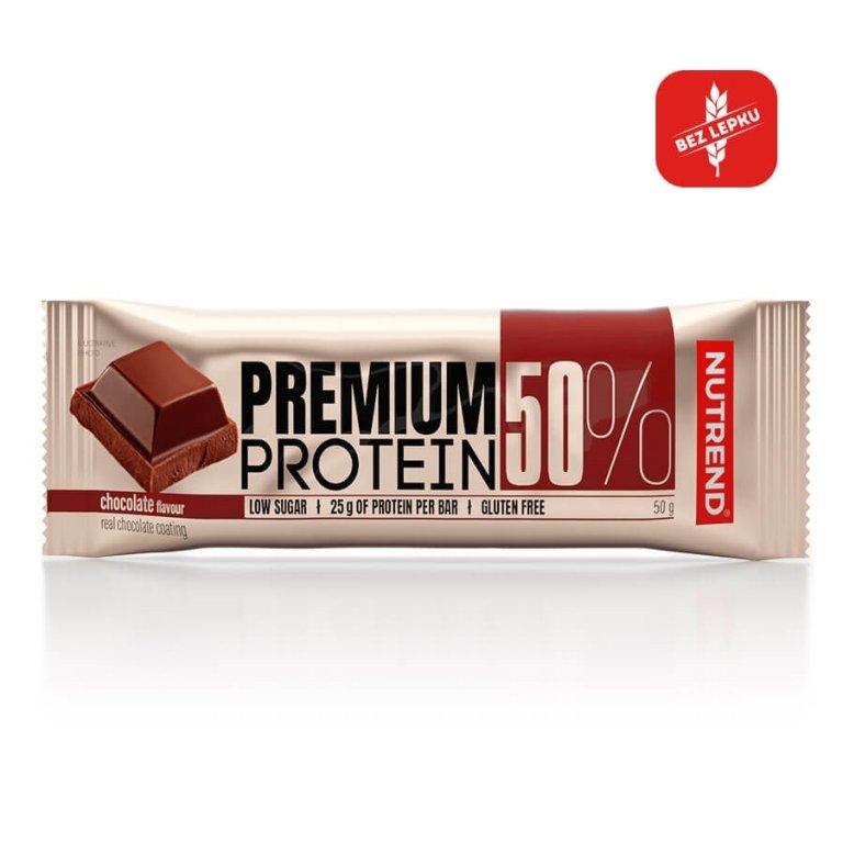 tyčinka Nutrend PREMIUM PROTEIN 50 BAR čokoláda 50g