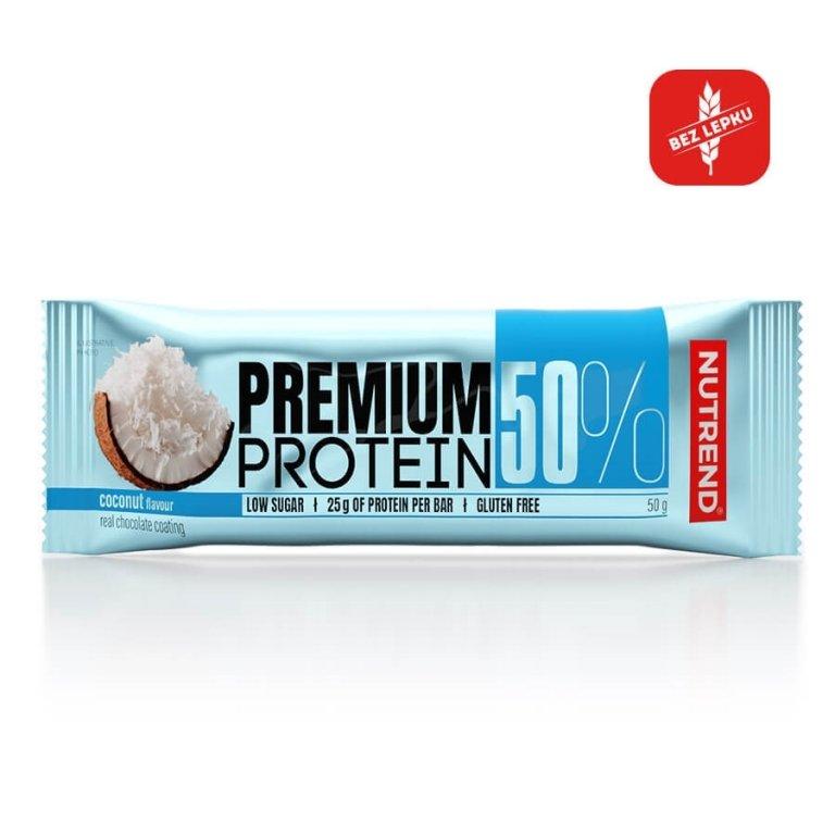 tyčinka Nutrend PREMIUM PROTEIN 50 BAR kokos 50g