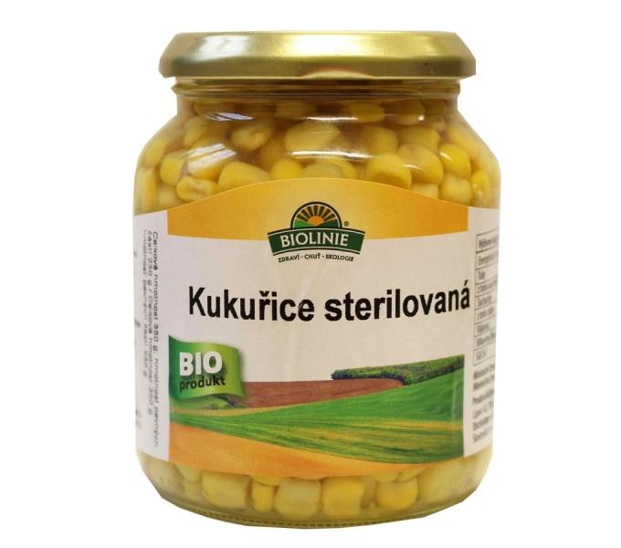 kukuřice sterilovaná BIOLINIE 340g