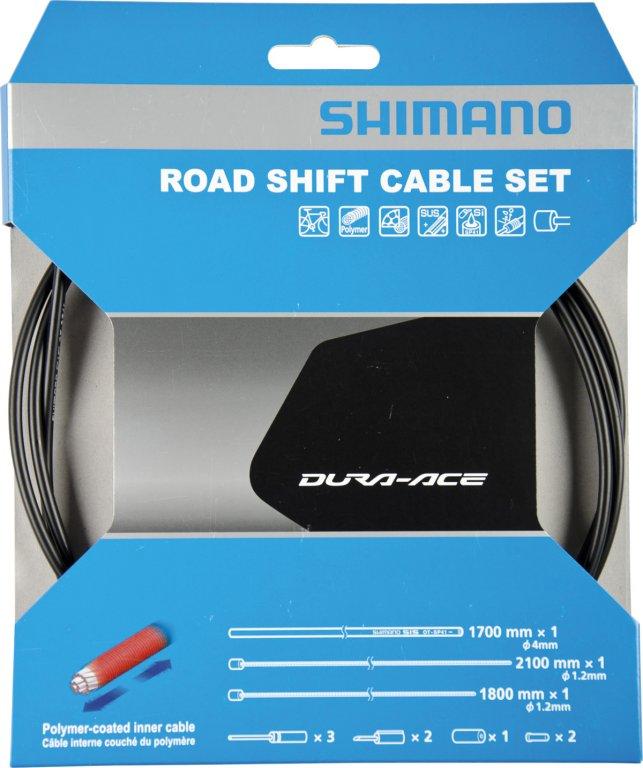 bowdeny+lanka Shimano SP41 polymer set černý