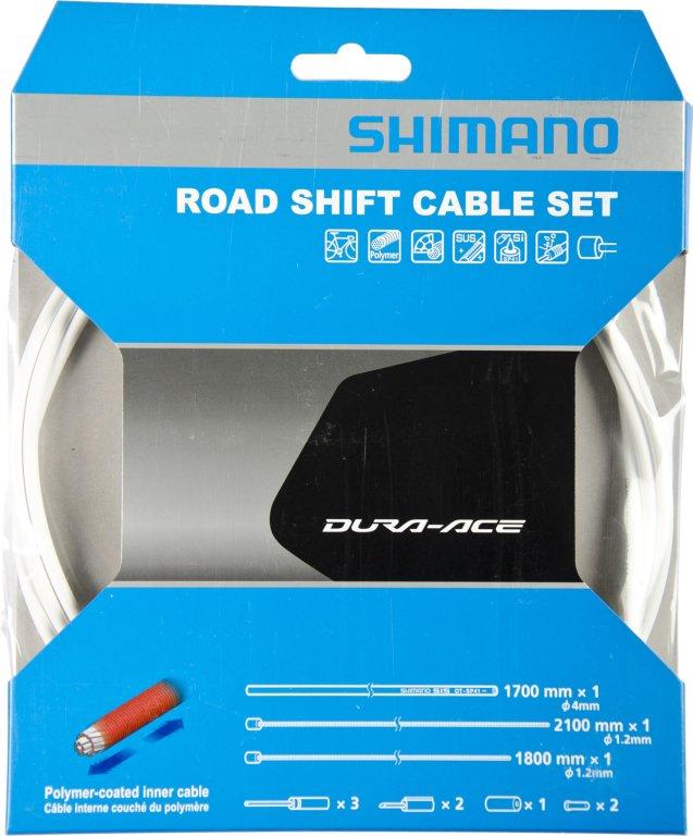 bowdeny+lanka Shimano SP41 polymer set bílý
