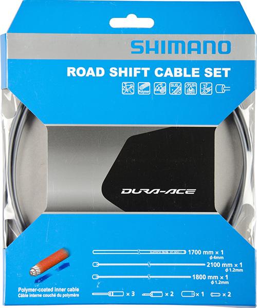 bowdeny+lanka Shimano SP41 polymer set šedý