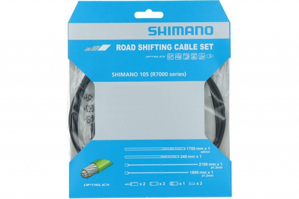Bowdeny+lanka Shimano R7000 SP41+RS900 OPTISLICK set černý