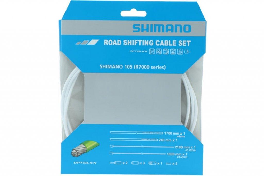 Bowdeny+lanka Shimano R7000 SP41+RS900 OPTISLICK set bílý