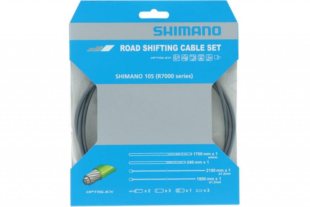 Bowdeny+lanka Shimano R7000 SP41+RS900 OPTISLICK set šedý