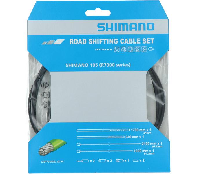Bowdeny+lanka Shimano silniční SP41 OPTISLICK set černý