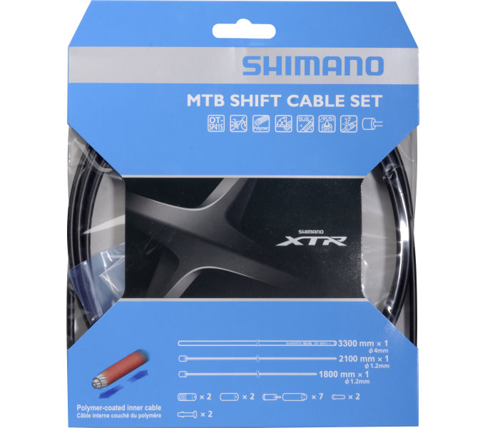 bowdeny+lanka Shimano XTR SP41 set černý