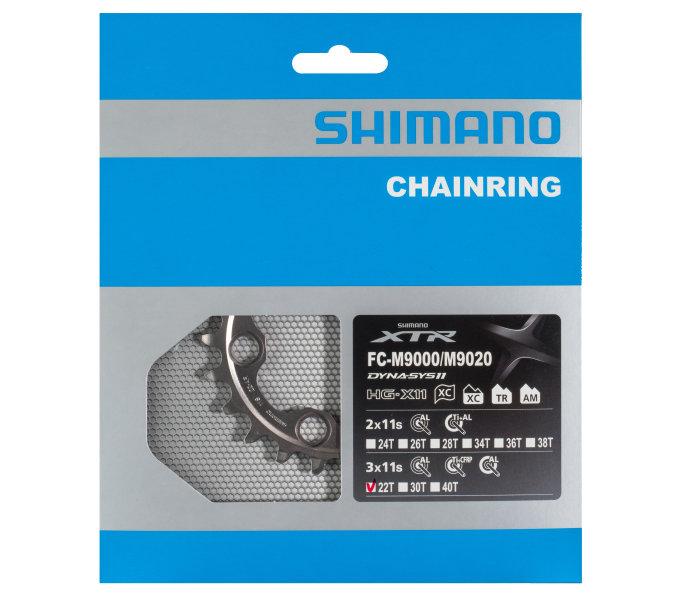Převodník 22z Shimano XTR FC-M9020 3x10 4 díry