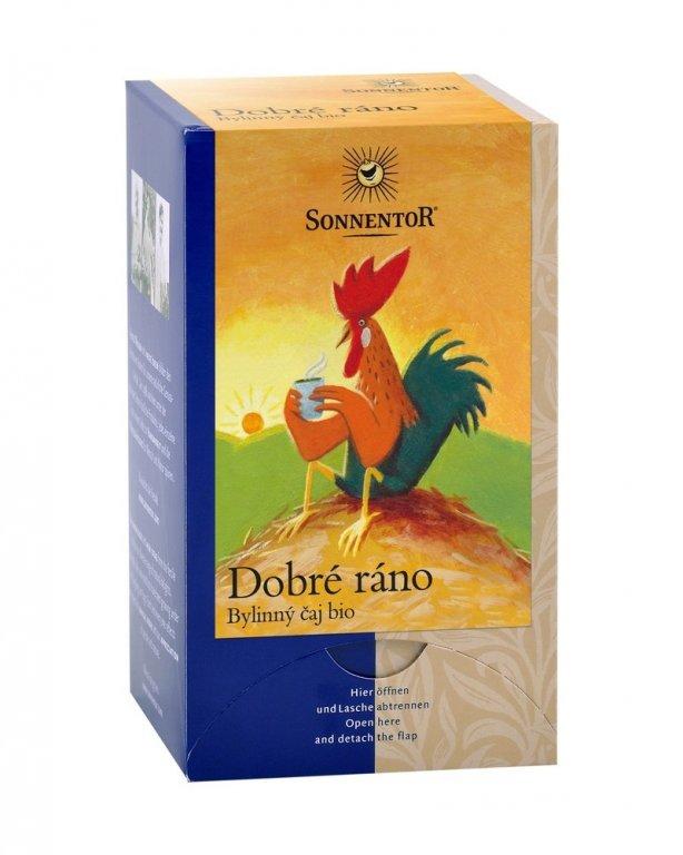 """čaj """"Dobré ráno"""" Sonnentor 27g porcovaný"""