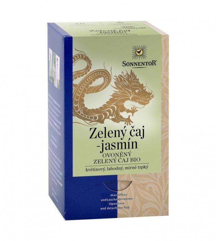 čaj zelený-jasmín Sonnentor 27g porcovaný