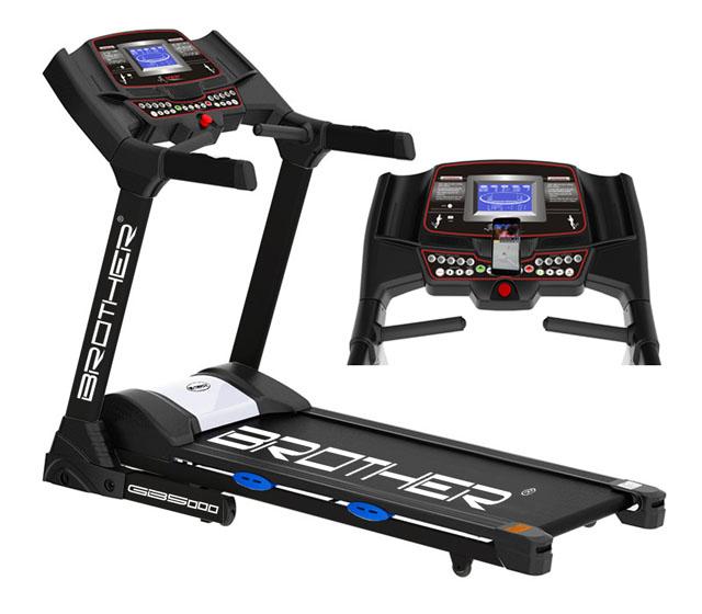 Běžecký pás s elektrickým náklonem a běžeckými aplikacem GB5000BA