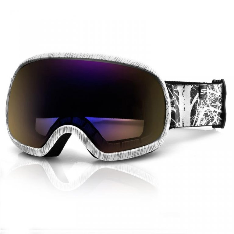 brýle lyžařské SPOKEY PARK šedo/bílé