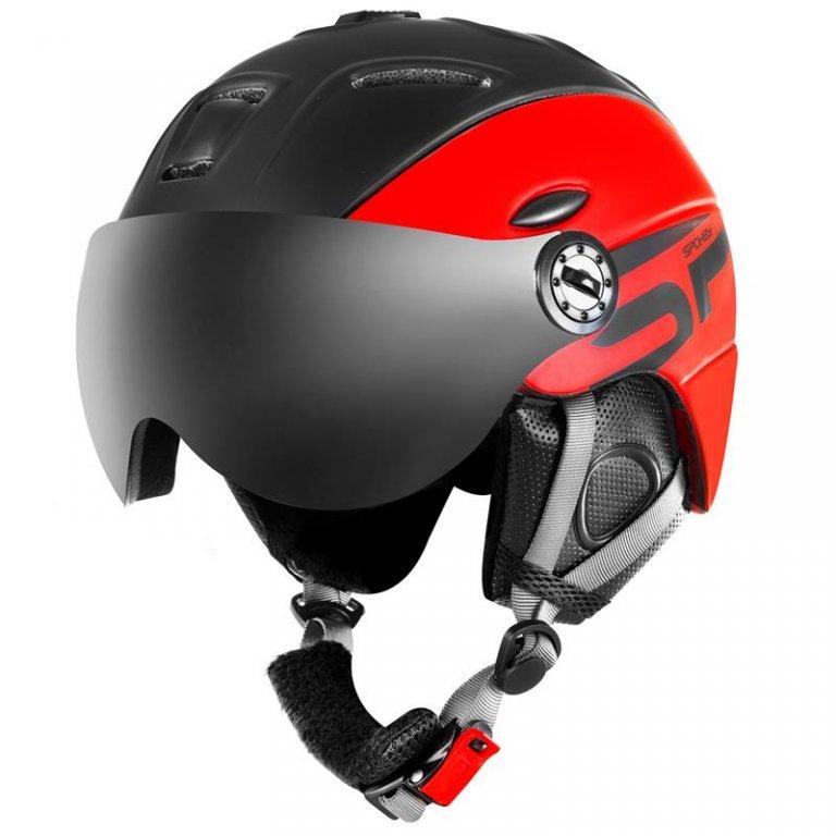 Přilba lyžařská SPOKEY MONTANA černo/červená