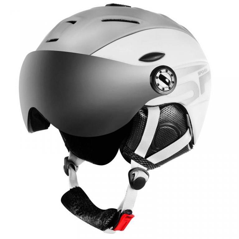 Přilba lyžařská SPOKEY MONTANA šedo/bílá