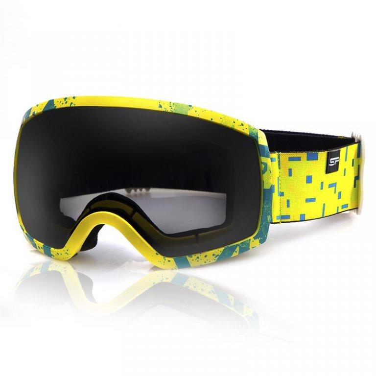 brýle lyžařské SPOKEY RADIUM čermo-žluté