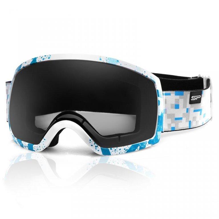brýle lyžařské SPOKEY RADIUM bílo-modré