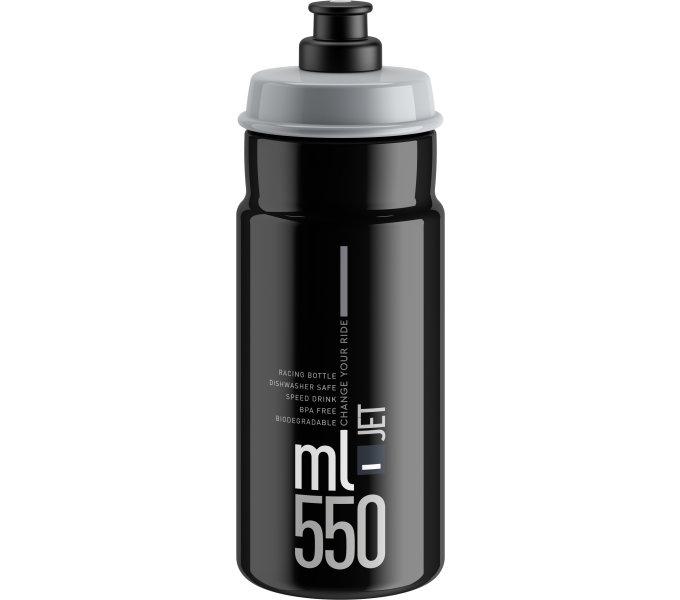 Lahev ELITE Jet Black šedé logo, 550 ml