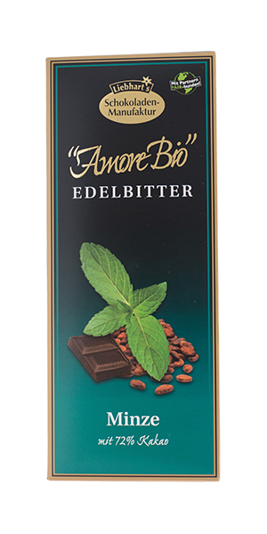 čokoláda hořká s mátou Liebhart´s 100g