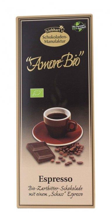 čokoláda hořká Espresso Liebhart´s 100g