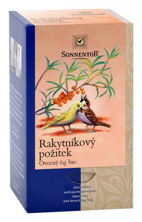 čaj Rakytníkový požitek Sonnentor 54g porcovaný
